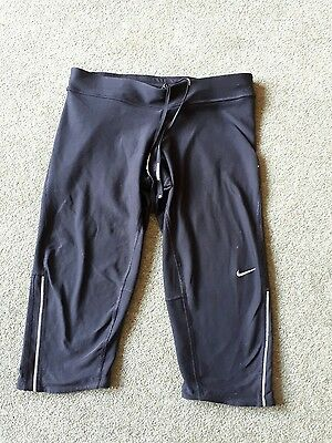 ladies black Nike Crop knee gym exercise shorts Size small