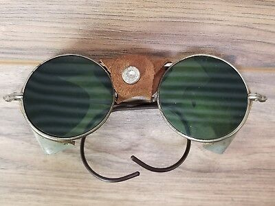 Vintage Antique Automobile/ Motorcycle/Welding Glasses Goggles Steampunk Metal
