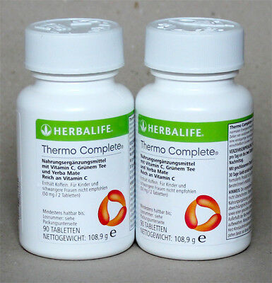 2x Herbalife Thermojetics - Thermo Complete, 2 x 90 Presslingen (EUR 38,06/100g)