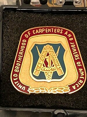 """UNITED BROTHERHOOD of CARPENTERS """"EMBLEM LAPEL PIN"""" SHOW YOUR PRIDE """"NEW"""""""