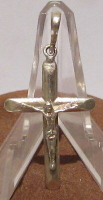 OUTSTANDING VINTAGE SILVER 925% CROSS WITH CRUCIFIXION,EARLY 20th.Century # 26C
