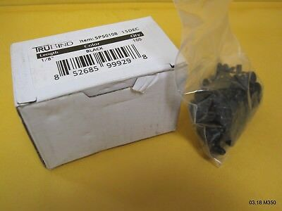 TruBind 1/8-Inch Black Aluminum Chicago Screws, 100 Sets SPB0108