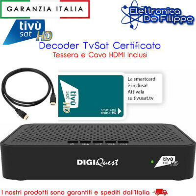 Ricevitore / Decoder Satellitare con Smart Card Tivu Sat Full HD HDMI e SCART