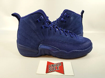 outlet store f67b4 4a168 Nike Air Jordan XII 12 Retro GS BLUE SUEDE DEEP ROYAL 153265-400 4Y YOUTH