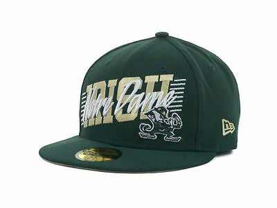 Notre Dame Fighting Irish New Era 59FIFTY NCAA Fitted Cap Hat - Size: 7 1/2