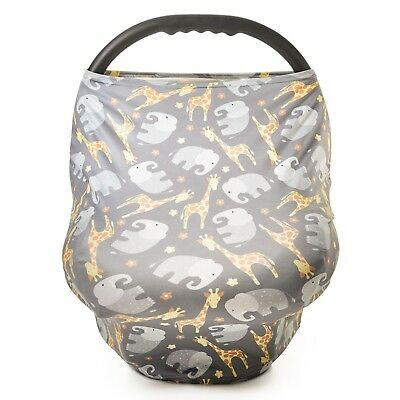 Baby Multi-Use Nursing Breastfeeding Cover and Car Seat Canopy by Busy Monkey