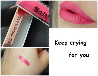 Makeup Revolution Salvation Velvet Lip Lacquer * Keep Crying For You * Nuovo