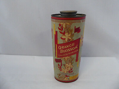 Vintage Orange Blossom Talcum Powder Can