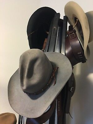 620ada37 Vintage Antique Stetson Gus Tom Mix 7 1/8 Texas 57 cm Western Cowboy Hat