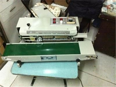 Vertical Plastic Bag Band Sealing Machine Automatic FR-900 Sealer Continuous aw