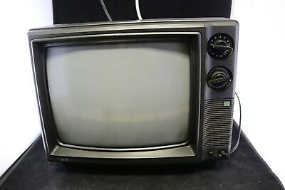 "Vtg 1980s KTV CRT 13"" Color TV - Old School Dials & Knobs -Retro"
