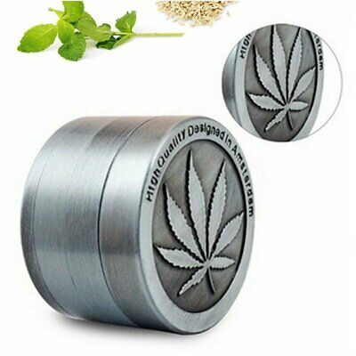 Metal Zinc Alloy Tobacco Herb Grinder Hand Muller Smoke Crusher 4-Layers 40MM AU