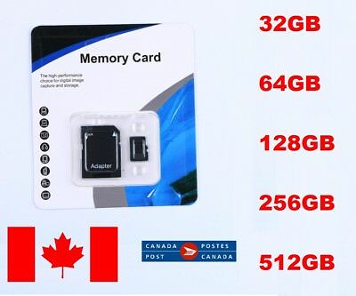 32/64/128/256/512GB Micro SD SDXC HC Flash TF Memory Card Class 10 For Phone MP3