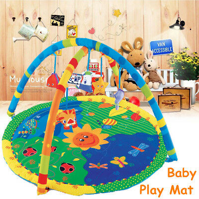 Baby Adventure Gym Activity Lay Crawling Soft Playmat Nest Play Floor Mat Toy