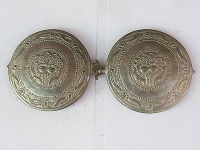 Rare Antique Ottoman Hand Hammered Silver Belt Buckle - early 19th.-LOW PRICE!