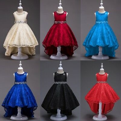 Baby Girl Pageant Sequin Wedding Dress Kids Bridesmaid Formal Party Gown Dresses
