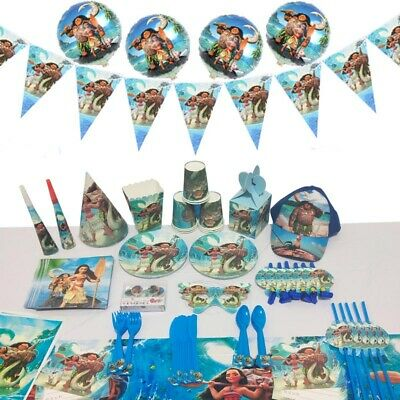 Kids Moana Maui Birthday Party Supplies Favor Tableware Decoration Plate Gift