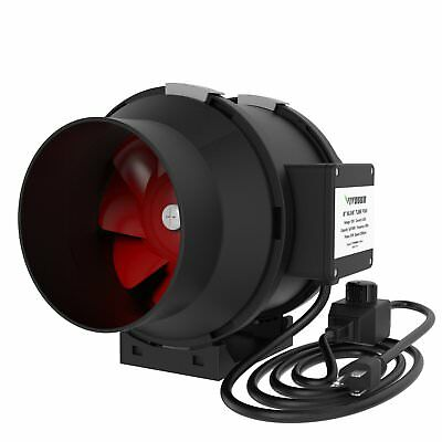 VIVOSUN 6 Inch 390 CFM Inline Duct Fan with Variable Speed Controller for