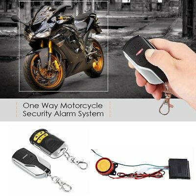 12V Motorcycle Scooter Anti-theft Vibration Alarm Security System Remote Control