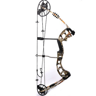 M125 30 - 70 Ibs Camo Compound Hunting  Blade Bow For Archery Target Shooting
