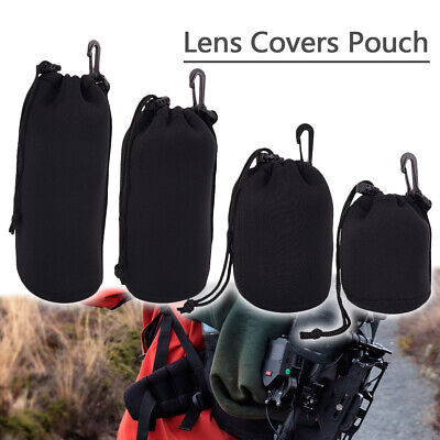 Waterproof Neoprene Lens Bag Case Pouch For DSLR Camera Sony Canon S M L XL