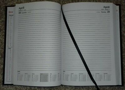 A5 Page a Day Diary 2018 Black