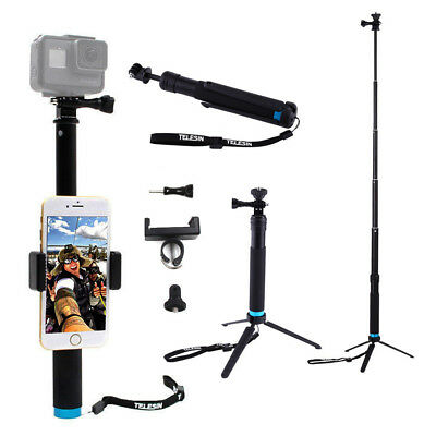 5 in 1 Set Extendable Selfie Stick Tripod Handheld Monopod for GoPro HERO 6 5 4