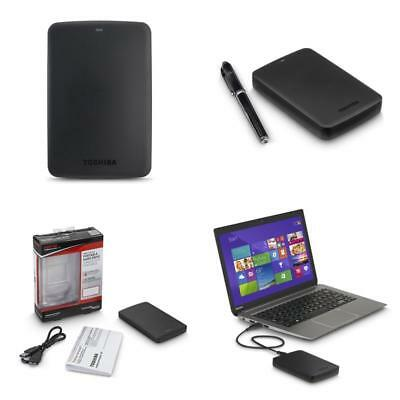 Portable External Hardrive 3 Terabyte Flash Canvio Basics Toshiba 3TB Hard Drive