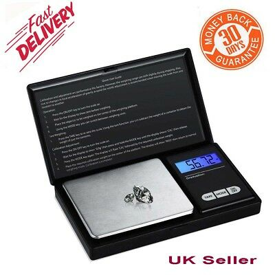 Electronic Pocket Mini lcd Digital Gold Kitchen Jewellery Weighing Scales Top UK