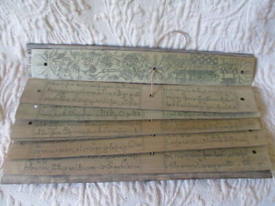 Antique Palm Leaf Prayer/ Story Book - RARE