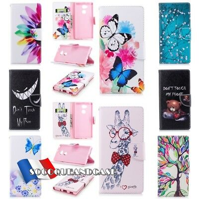 Etui coque housse Cuir PU Leather Wallet case cover pour Sony Xperia XA2 XZ1 XZ2