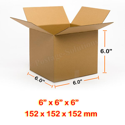 6x6x6 Inches Single Wall Brown Corrugated Cardboard Postal Mailing Boxes