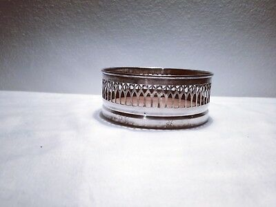 Antique silver plated wine coaster from england