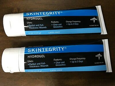 Lot of 2 Medline Skintegrity Hydrogel Dressing 4 oz. MSC6104 EXP: 1/21