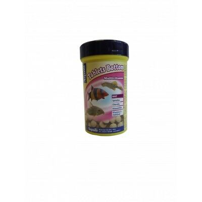 Aquili Tablets Bottom 100 Ml - 50G Mangime In Pastiglie Pesci Da Fondo Acquario