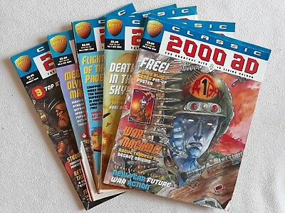 5 Issue Run of Classic 2000 AD No.s 6 - 10