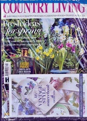 Country Living Magazine Issue April 2018 ~ New ~