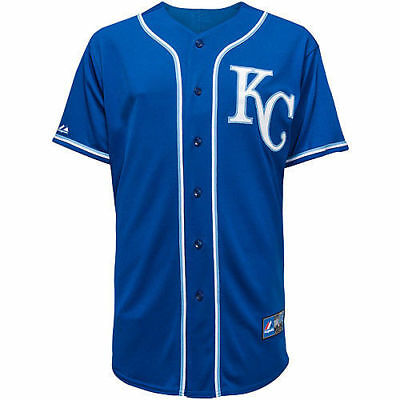 MLB Baseball Trikot Jersey KANSAS CITY ROYALS blau von Majestic