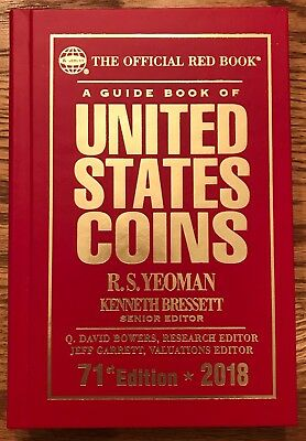 2018 Hardback - Red Book - U.S. Coins Price Guide, 71st Edition Whitman