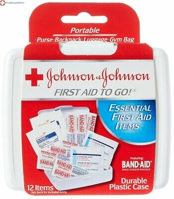 JOHNSON & JOHNSON First Aid To Go Kit 12 Items