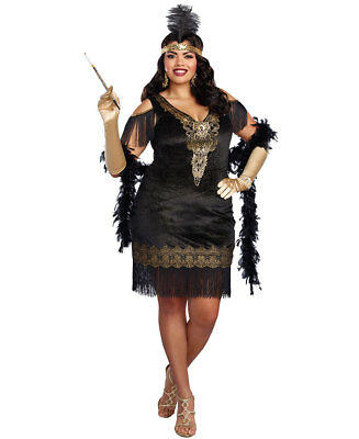 New Dreamgirl 10700X Plus Size Swanky Flapper Costume