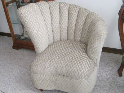 "Vintage Art Deco ""CLAMSHELL"" Chair   NEW PRICE!!!"