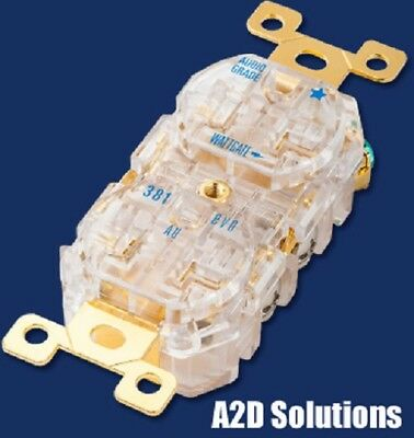 Wattgate 381 AU evo Clear Gold Plated Audio Grade AC Recepticle Outlet