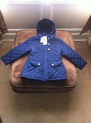 BRAND NEW NEXT Gorgeous Girls Quilted Winter Coat Hooded Blue  Age: 3-6 months
