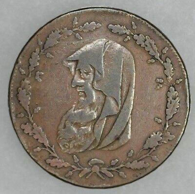 1789 Wales Anglesey Mines Half Penny Conder Token, D&H 374
