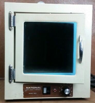 National Appliance Benchtop Laboratory Vacuum Oven * Model 5831 * 120V * Tested
