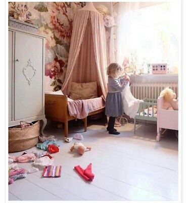 ☆WITH 2 STARS☆ Kids Girls Bed Canopy Pink Cotton Tent ...