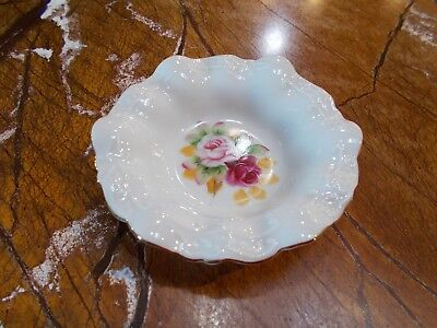 Lefton China Hand Painted #4672 Floral Bowl