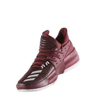 cheap for discount b2788 8cd0b Adidas Dame 3 Maroon Basketball Shoes BY3195 NEW Authentic