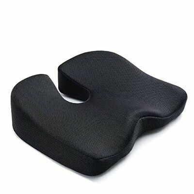 Coccyx Seat Cushion for Tailbone Pain Memory Foam Orthopedic Back Relief and Car